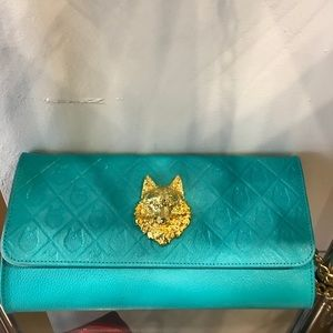 Turquoise Clutch Purse